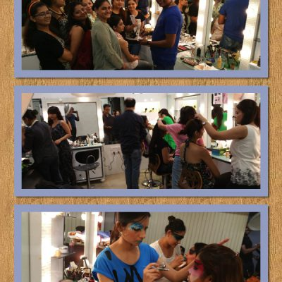 Students At OSM Practising Makeup Styles