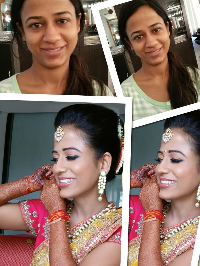 Before and After Bridal Makeup Look Created at OSM